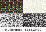 pattern  triquetra  brush ... | Shutterstock .eps vector #695313430