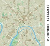 vector city map of moscow with... | Shutterstock .eps vector #695323669