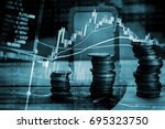 various type of financial and... | Shutterstock . vector #695323750