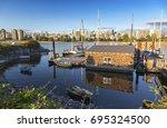kitsilano heritage harbor in... | Shutterstock . vector #695324500