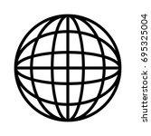 global sphere icon | Shutterstock .eps vector #695325004