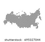 abstract map of russia dots... | Shutterstock .eps vector #695327044