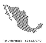 abstract map of mexico dots... | Shutterstock .eps vector #695327140