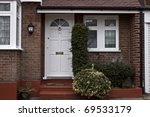 Enter to English house - stock photo