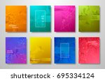 minimal covers design gradients ... | Shutterstock .eps vector #695334124