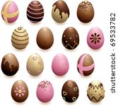 Set Of Decorated Chocolate Egg...