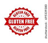 gluten free grunge rubber stamp.... | Shutterstock .eps vector #695339380