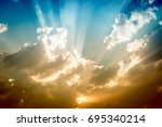 dramatic clouds and sky with... | Shutterstock . vector #695340214