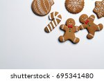 Christmas Cookies Isolated On...