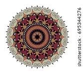 flower mandalas. vintage...   Shutterstock .eps vector #695344276