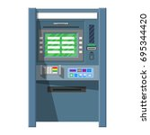 bank atm. automatic teller... | Shutterstock .eps vector #695344420