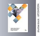 abstract flyer design...   Shutterstock .eps vector #695349394