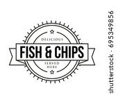 fish and chips vintage sign... | Shutterstock .eps vector #695349856