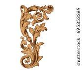 baroque vector of vintage... | Shutterstock .eps vector #695353369