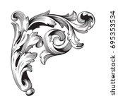 baroque vector of vintage... | Shutterstock .eps vector #695353534