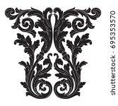 baroque vector of vintage... | Shutterstock .eps vector #695353570