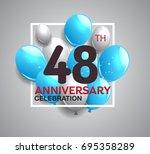 48th anniversary celebration...   Shutterstock .eps vector #695358289
