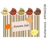 autumn sale background with bar ... | Shutterstock .eps vector #695362228