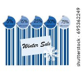 winter sale background with bar ... | Shutterstock .eps vector #695362249