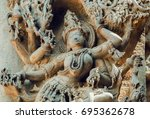 Face Of Female Hindu God On Ol...