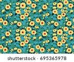 trendy seamless vector floral... | Shutterstock .eps vector #695365978