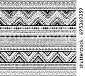 black and white tribal vector... | Shutterstock .eps vector #695369359
