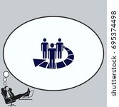 group of people icon  friends... | Shutterstock .eps vector #695374498