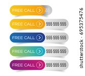 free call button set | Shutterstock .eps vector #695375476
