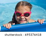 portrait of  child having fun... | Shutterstock . vector #695376418