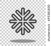 snowflake   snowflake icon  ... | Shutterstock .eps vector #695381830