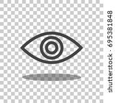 eye icon vector isolated | Shutterstock .eps vector #695381848