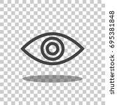 eye   eye icon   eye vector | Shutterstock .eps vector #695381848