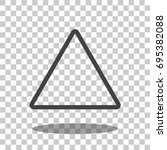 triangle icon vector isolated | Shutterstock .eps vector #695382088