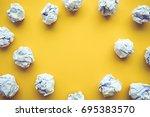 creativity inspiration ideas... | Shutterstock . vector #695383570