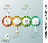 four overlapping translucent...   Shutterstock .eps vector #695384926