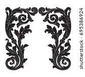 baroque vector of vintage...   Shutterstock .eps vector #695386924