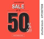 sale retro poster  vector... | Shutterstock .eps vector #695387008