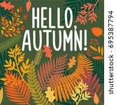 hello  autumn | Shutterstock .eps vector #695387794