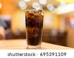 cool ice soft drink cola... | Shutterstock . vector #695391109