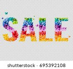 summer sale text  vector... | Shutterstock .eps vector #695392108