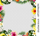 tropical frame isolated  with... | Shutterstock .eps vector #695394694