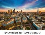 london  england   panoramic... | Shutterstock . vector #695395570