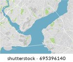 vector city map of istanbul... | Shutterstock .eps vector #695396140