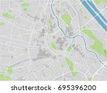 vector city map of vienna with... | Shutterstock .eps vector #695396200