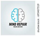 mind repair logo design... | Shutterstock .eps vector #695407519