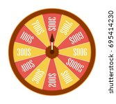 spinning wheel of fortune.... | Shutterstock .eps vector #695414230