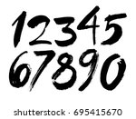 vector set of calligraphic... | Shutterstock .eps vector #695415670