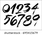 vector set of calligraphic... | Shutterstock .eps vector #695415679
