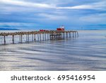 south of south america. the... | Shutterstock . vector #695416954