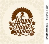 typography of thanksgiving.... | Shutterstock .eps vector #695417104